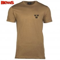 3 Kronor T Shirts - Coyote Brown
