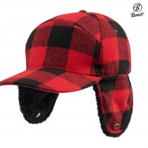 Brandit Lumberjack Winter Cap - Red/Black