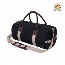 "Rothco 19"" Canvas & Leather Gym Bag Sort"