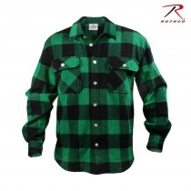 Rothco Flannel shirt Mænd - Green