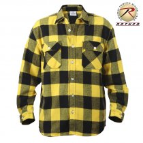 Rothco Flannel shirt Mænd - Yellow