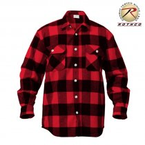 Rothco Flannel shirt Mænd - Red