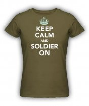 Brittisk T Shirt - Keep Calm and Soldier On OD
