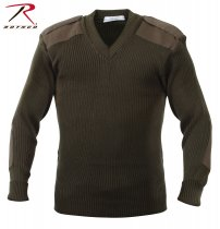 ROTHCO ACRYLIC V-NECK SWEATER OD