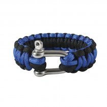Rothco Paracord Armband D-Shackle Blue/Svart