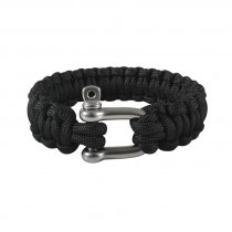 Rothco Paracord Armband D-Shackle - BLACK