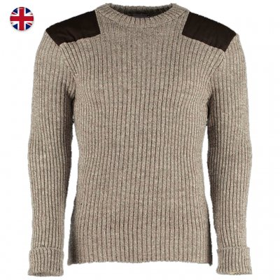 Woolly Pully Military Nato Knitwear - Heather Mix