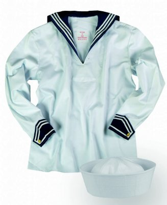 Sailor shirt med Sailor Hat
