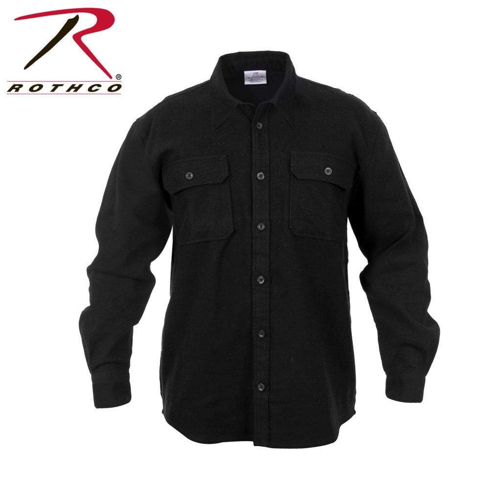 Flanellskjorta Svart Skjorter med lange ærmer Skjorter